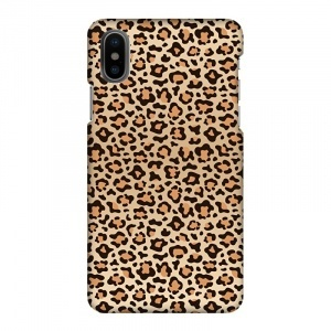 Mobilskal Leopard Svart/Orange