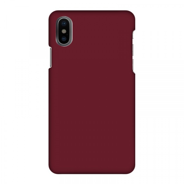 Mobilskal Enfärgat Bordeaux Röd